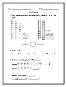 math worksheet : everyday math grade 1 unit 3 review  everyday math  unit 3  : Everyday Math Grade 3 Worksheets