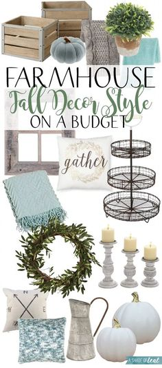 Modern Farmhouse Neutral Fall Decor, all from Target! - Modern Farmhouse Neutral Fall Decor, all from Target! Diy Home Decor For Apartments, Country Farmhouse Decor, Modern Farmhouse, Farmhouse Style, Country Style, Farmhouse Ideas, Farmhouse Budget, White Farmhouse, Farmhouse Design