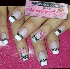 Pri esmalte Cute Nail Designs, Cute Nails, Nail Art, Prom, Black Nails, Enamel, Short Films, Fairy, Classy Nails