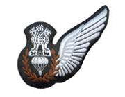 Aircrew badges commonly known as WINGS are worn by theIndian air force's officers and airmen crew on their uniforms is the symbol of qualification badge Indian Air Force, S Monogram, Laurel Wreath, White Cotton, Badge, Badges