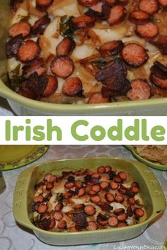 Irish Coddle--potatoes, onions, and sausage baked in apple juice. This is so good!