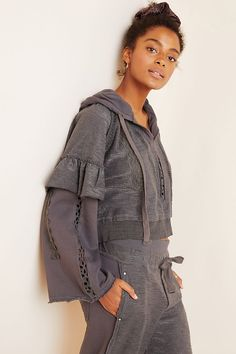 Free People Movement Heartbeat Hoodie - Anthropologie - The Free People Movement collection is designed for your active, on-the-go life. Intuitive color schemes allow you to mix and match with ease, while thoughtfully placed pockets secure your exercise essentials. Cut in flattering silhouettes that enhance mobility and motion-minded ease, the workout-ready wear features cutouts, mesh panels, and moisture-wicking technology for maximum breathability. (This post contains affiliate links.) Under Armour Men, Active Wear For Women, In A Heartbeat, Anthropologie, Free People, Dress Up, Feminine, Hoodies, Women's Activewear