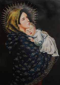 nice Christian Religious Painting Peru Fine Art 'Madonna and Child' NOVICA Andes   Check more at http://harmonisproduction.com/christian-religious-painting-peru-fine-art-madonna-and-child-novica-andes/