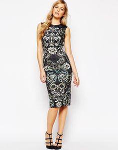 Асимметричное платье с принтом Ted Baker Bellia