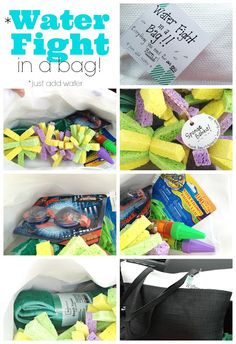 """""""Water fight in a Bag"""" - a kid gift for summer birthdays"""