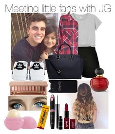 """Meeting little fans with Jack Gilinsky"" by jzizzle ❤ liked on Polyvore featuring Boohoo, adidas, Monki, Michael Kors, Urban Decay, Rimmel, MAC Cosmetics, Christian Dior, NYX and Eos"