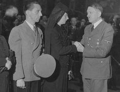 Adolf Hitler and Joseph Goebbels at the funeral of Viktor Lutze, 1943