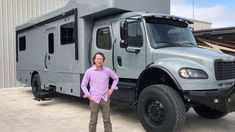 Showhauler Overland Expedition Coach from Performance Motorcoaches Diy Camper, Truck Camper, Camper Trailers, Campers, Off Road Rv, Off Road Camper, Overland Trailer, Heavy Truck, Expedition Vehicle