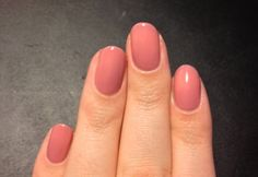 Gelish nails in old rose