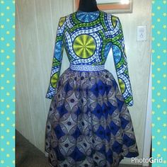 Custom  order for Kimmie. STELLA dress made from Julius Holland and African Wax Print