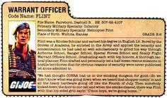 The G.I. Joe Rolodex: The Digital File Card Repository - 3DJOES
