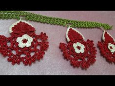 Dantel Uç Modeli Yapımı (Havlu Ucu) - YouTube Crochet Lace, Lace Trim, Crochet Earrings, Lily, Elsa, Jewelry, Youtube, Crochet Flowers, Bedspreads