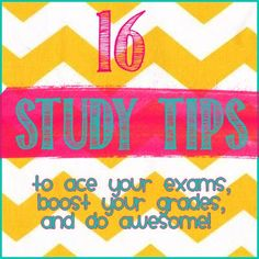 16 Study Tips to ace your exams, boost your grades and do awesome! Pin now, read later :) college student tips College Hacks, School Hacks, College Life, School Tips, College Years, School Ideas, School Stuff, Effective Study Tips, To Do Planner