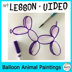 Elementary Art Lesson Plan. Balloon Animal Paintings inspired by Jeff Koons