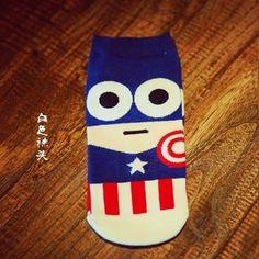 Super Hero Cartoon Casual ankle cotton Men Adult socks