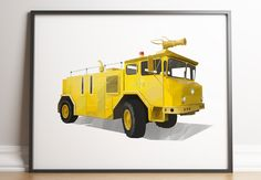Fire Truck Print, Transportation Print, Firetruck Prints, Toddler Boy Decor, Boys Room Print, Kids Wall Art, Play Room Decor