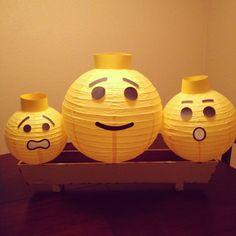 Lego party yellow head lantern crafts