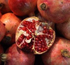 """""""Pomegranate fruit produces a red dye when boiled. However, if you add a bit of alum to the dye bath you can produce orange."""""""