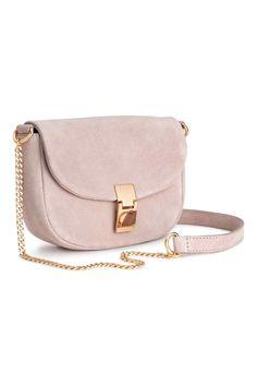 Suede shoulder bag - Powder pink - Ladies | H&M