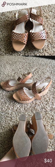 New without tags Franco Sarto Taupe Wedges New without tags Franco Sarto Taupe Wedges. Excellent condition. Smoke and pet free home Franco Sarto Shoes Wedges