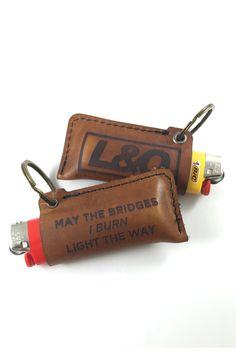 BURN BRIDGES Leather Lighter Case – LoudObnoxious