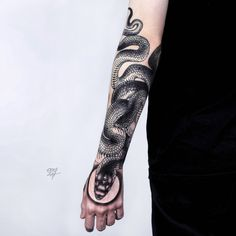 mystic snake tattoo design by @ooqza