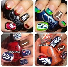 Football team theme nail ideas!