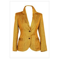 Vintage Blazer ❤ liked on Polyvore featuring outerwear, jackets, blazers, tops, vintage blazer, vintage jacket, brown jacket and brown blazer
