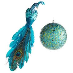 peacock ornaments - this could be my bird ornament this year!