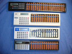 These hybrid calculators are not a joke. They were produced in Japan for only a few years at the time when digital calculators were first gaining acceptance.