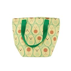 Buy Happy Avocado - Lunch Tote Bag online and save! Happy Avocado – Lunch Tote Bag If there's one way to remind yourself to pack healthy food for the day, it's this Happy Avocado Lunch Tote Bag! Avacado Lunch, Its An Avocado, Cute Avocado, Happy Fruit, Tote Bags Online, Lunch Tote Bag, Sass & Belle, Turtle Party, Textiles