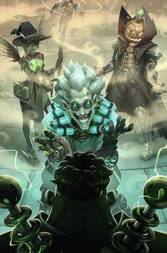 Overwatch comic 9 - Junkenstein, Gray Shuko on ArtStation at https://www.artstation.com/artwork/3ZkNm