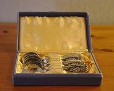 Six Vintage Swedish Demitasse Coffee Spoons with Sami Motif by DeeGeeRetro on Etsy