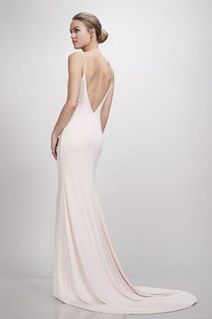Theia Bridal Ivy Wedding Dress in Blush