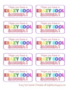 Have a Krazy Kool Summer---pack of Kool-aid & Krazy Straw...gift for kids-- printable