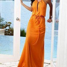 #MaxiDress #Orange #Zara #Mango #Høyer #Fashion
