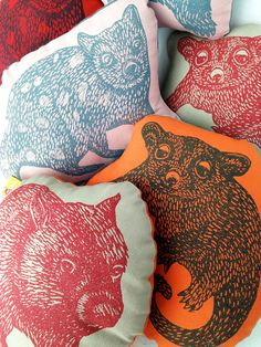 Set of two Australian animal cushions // Set of two decorative cushion // animal toy // animal softie set