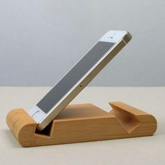 Bamboo Universal Phone Holder