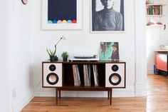 Department Chicago is raising funds for The Modern HiFi Stereo Console on Kickstarter! The HiFi Console is a Bluetooth enabled mid-century inspired stereo console built for this generation's music listener. Stereo Cabinet, Record Cabinet, Vinyl Storage, Record Storage, Storage Units, Vinyl Shelf, Mid Century Console, Consoles, Hifi Stereo