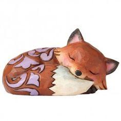 Jim Shore Mini Fox Sleeping