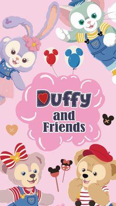 Disney Phone Wallpaper, Friends Wallpaper, Bear Wallpaper, Kawaii Wallpaper, Disney Cards, Disney Love, Tsum Tsum Wallpaper, Duffy The Disney Bear, Tsumtsum