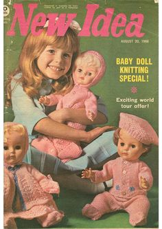 Dolls Knitting Patterns BOOKLET  Complete Layette by carolrosa, $3.00