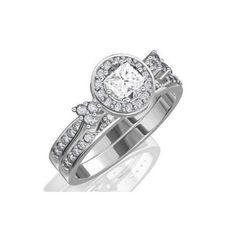 1.67 CaratPrincess Cut DiamondHalo Wedding Ring Set on 18K White Gold FineTresor. $10268.97. Center Diamond Cut: Princess. Center Dimond Carat Weight: 1.00. Metal: 18 K White Gold. Diamond Color: I-J. Diamond Clarity: I1-I2