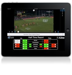 Sportstec Player Halftime Report example