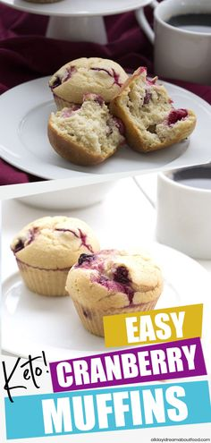 The best keto cranberry muffin recipe! It's so easy to whip the batter up in you.- The best keto cranberry muffin recipe! It's so easy to whip the batter up in you… Healthy Healthy Low Carb Recipes, Low Carb Desserts, Ketogenic Recipes, Keto Recipes, Dessert Recipes, Keto Cranberry Recipes, Diet Desserts, Dessert Ideas, Cranberry Muffins