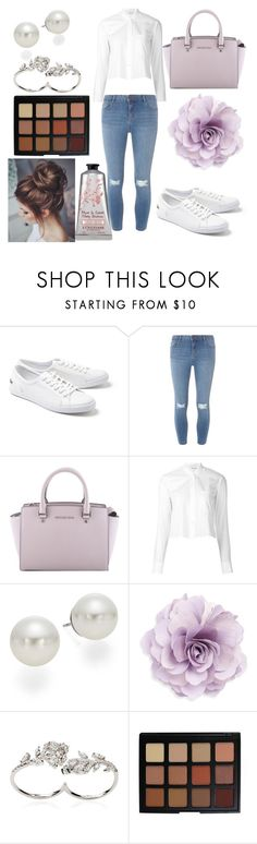 """""""life happens"""" by savannahmstyle ❤ liked on Polyvore featuring Lacoste, Dorothy Perkins, MICHAEL Michael Kors, Helmut Lang, AK Anne Klein, Cara, Apples & Figs and Morphe"""