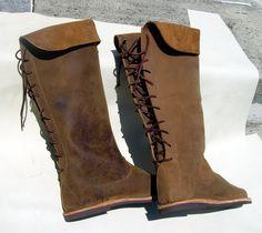 """Mittelalter Stiefel Model """" RUND No.2 """" Hoch"""