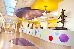 Wilbur D. May Pediatric Intensive Care Unit Nurses Station, Renown Children's Hospital, Reno, NV.