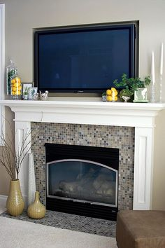 Mantle and moulding for fireplace