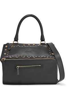 GIVENCHY Pandora Studded Leather Shoulder Bag. #givenchy #bags #shoulder bags #hand bags #canvas #leather #
